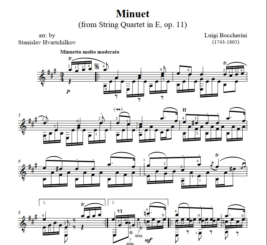 """Menuet"" from String Quintet in E,Op.11 Image"