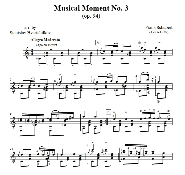"""Musical Moment No.3"" (op.94) Image"