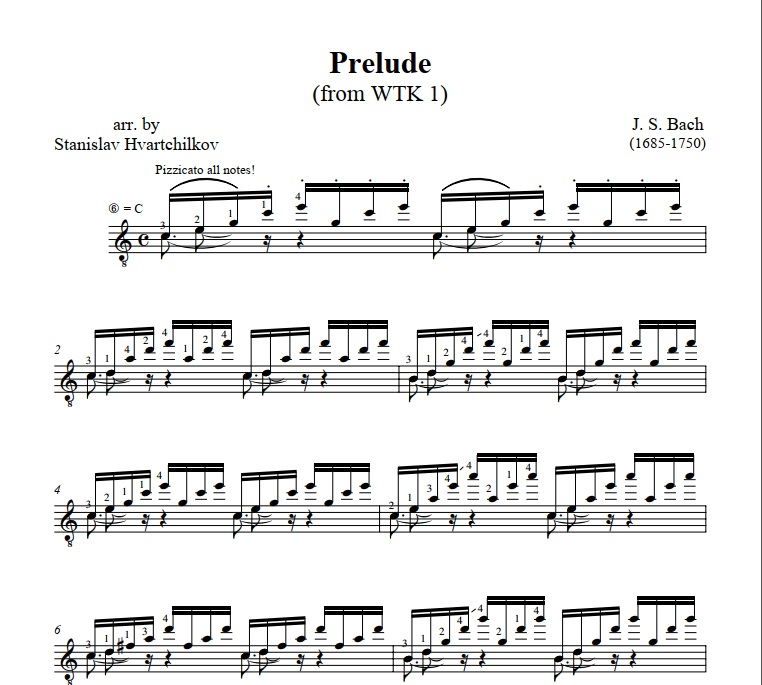 Prelude No.1 in C major (from WTK I) Image