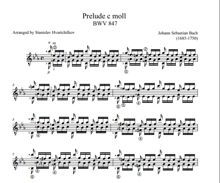 Prelude BWV 847 (C minor) Image