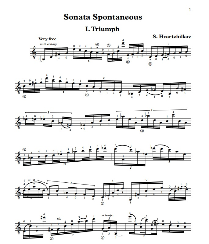 "Sonata No.1 ""Spontaneous"" Image"
