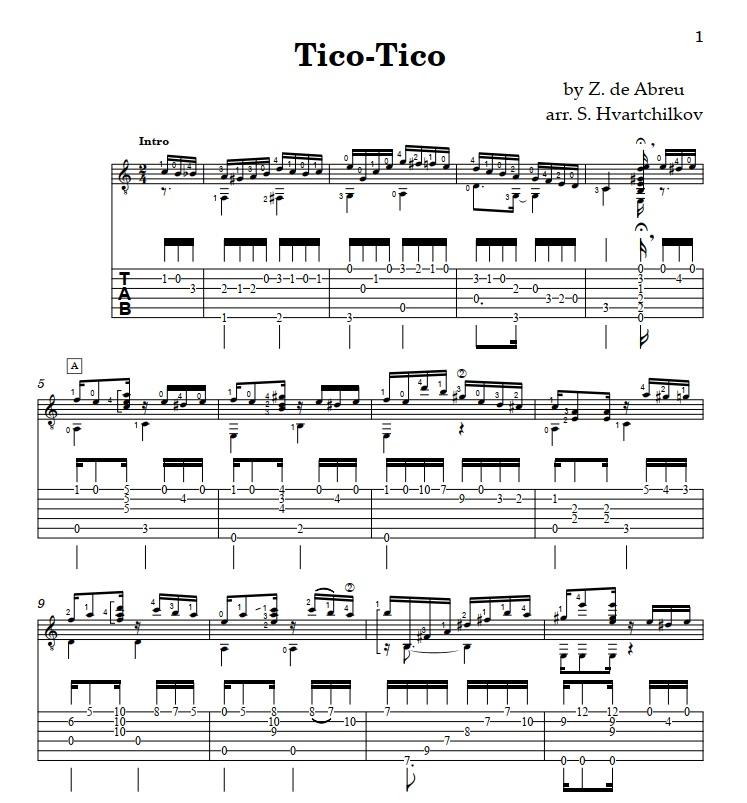 """Tico Tico no Fuba"" (Choro) Image"