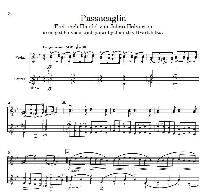 """Passacaglia"" after Handel Image"